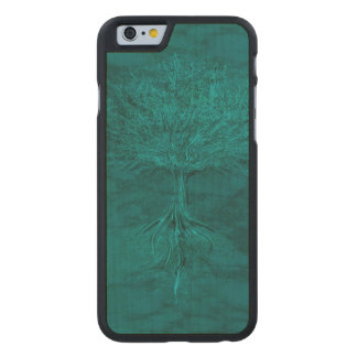 Turquoise Tree of Life Carved® Maple iPhone 6 Case