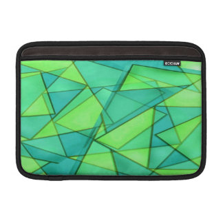 Turquoise Triangle Pattern MacBook Sleeve