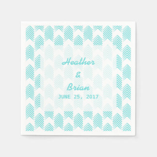 Turquoise Tribal Arrows Paper Napkins