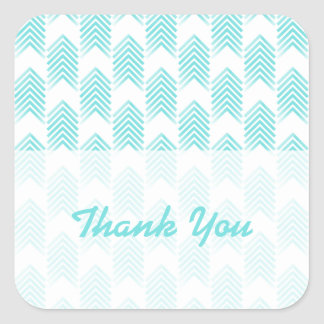 Turquoise Tribal Arrows Thank You Stickers
