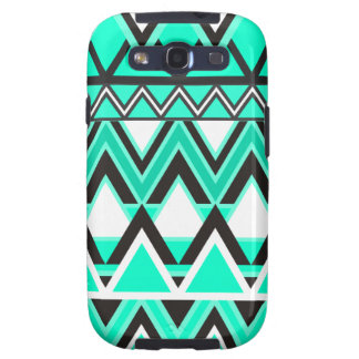 Turquoise Tribal Pattern Samsung Galaxy SIII Cover