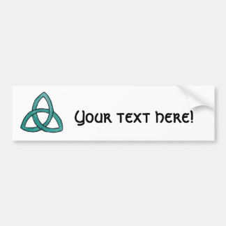 Turquoise Trinity Knot Car Bumper Sticker