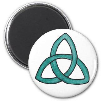 Turquoise Trinity Knot Fridge Magnets