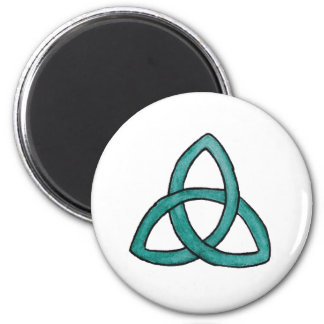 Turquoise Trinity Knot Magnet