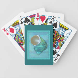 Turquoise Turbo Bicycle Playing Cards