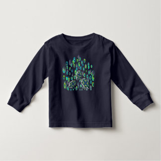 turquoise turtle 37 toddler t-shirt