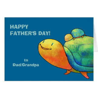 Turquoise Turtles Greeting Card(customizable) Card
