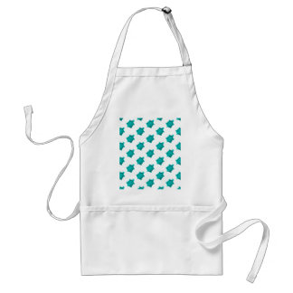 Turquoise Turtles Pattern Adult Apron