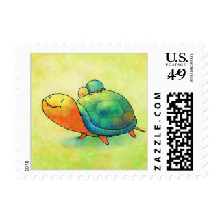 Turquoise Turtles Stamp