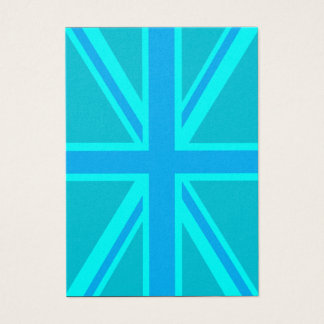 Turquoise Union Jack British Flag Design Business Card
