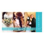 TURQUOISE UNION   WEDDING THANK YOU CARD PHOTO CARD