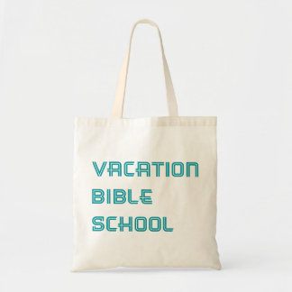 Turquoise Vacation Bible School Tote Bag