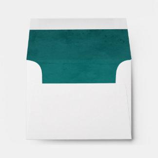 Turquoise Velvet Textured Lining A2 Envelope