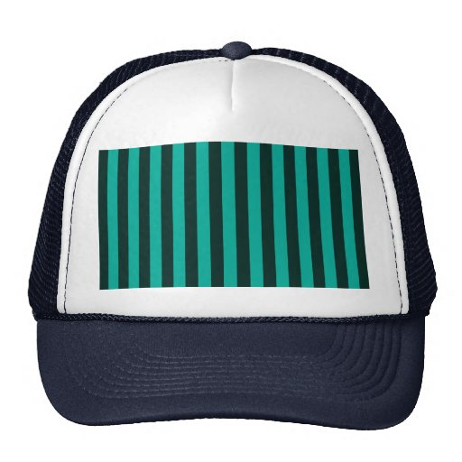 Turquoise Vertical Stripes Customize This! Mesh Hat
