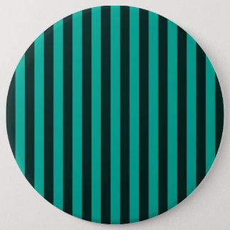 Turquoise Vertical Stripes Decor Pinback Button