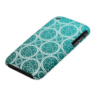Turquoise Victorian Damask iPhone 3 Case-Mate Case
