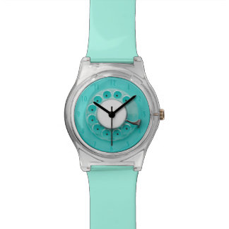 Turquoise Vintage Retro Rotary Dial Concept Watch