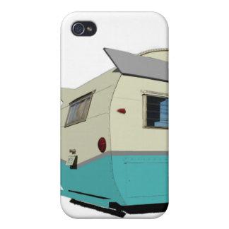 Turquoise Vintage Shasta Trailer iPhone Case
