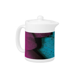 Turquoise Violet Feather Teapot