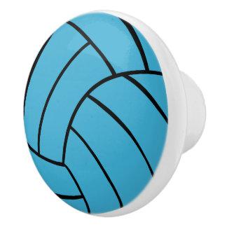 Turquoise Volleyball Ceramic Knob