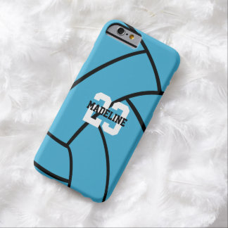 Turquoise Volleyball Monogram Custom iPhone Case