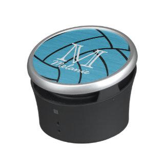 Turquoise Volleyball Monogram Speaker