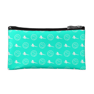 Turquoise Volleyball Pattern Clutch