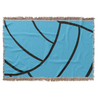 Turquoise Volleyball Throw Blanket