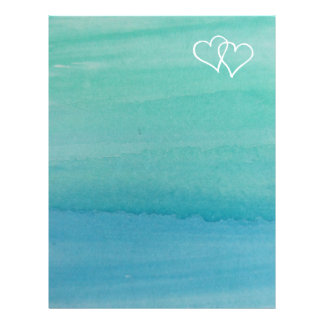 Turquoise water color beach wedding stationery