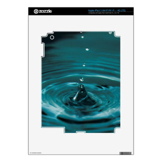 Turquoise Water Drop Decal For iPad 3