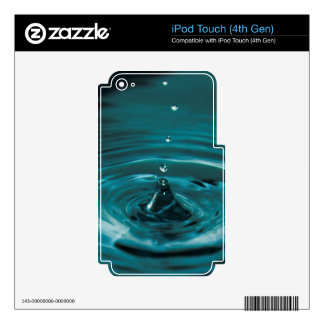 Turquoise Water Drop iPod Touch 4G Decals