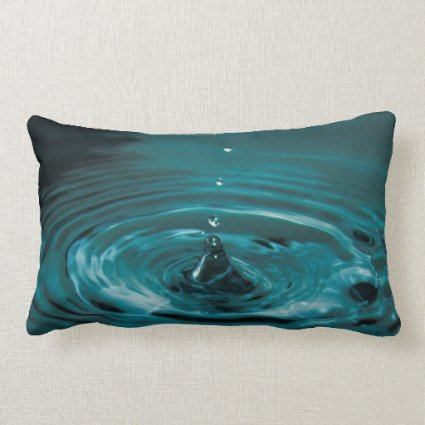 Turquoise Water Drop Pillows