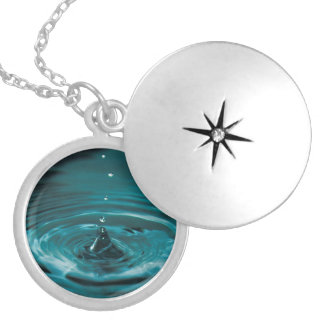 Turquoise Water Drop Silver Plated Necklace