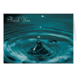 Turquoise Water Drop Thank You Card