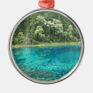 Turquoise Water Metal Ornament
