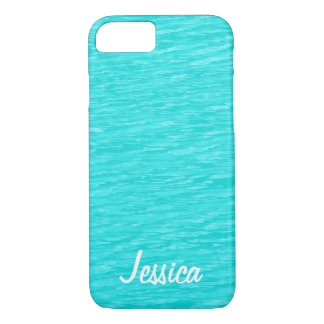 Turquoise Water - Personalized Girly Name iPhone 7 Case