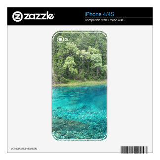 Turquoise Water Skin For The iPhone 4