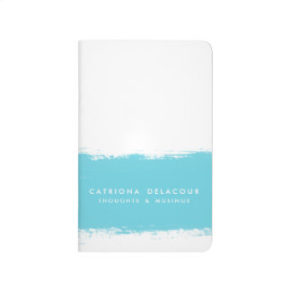Turquoise Watercolor Splash Personalized Journal