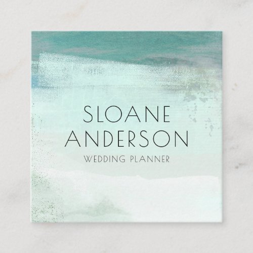 Turquoise Watercolor Wash Business Card