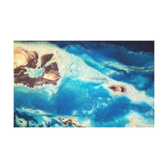 Turquoise Waters of Saudi Arabia Canvas Print