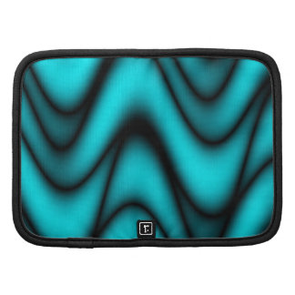 Turquoise Waves Abstract Design - Planner