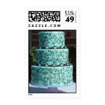 Turquoise Wedding Cake Stamps