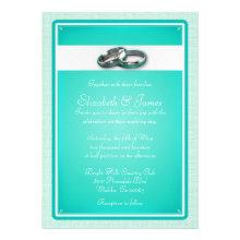 Turquoise Wedding Invitations Custom Announcements