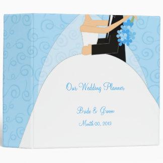 Turquoise Wedding Planner Binder 2-inch