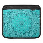 Turquoise Western Bandana Paisley Scarf Fabric Sleeve For iPads