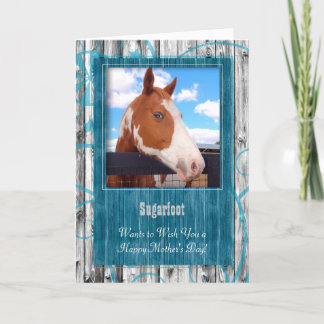 Turquoise Western Themed from the Horse Photo Card