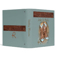 Turquoise Western Wedding binder