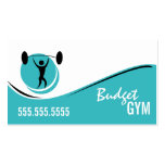 Turquoise White Black Gym Work Out Business Card