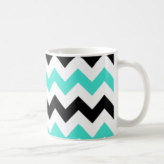 Turquoise White Black Zigzag Coffee Mug