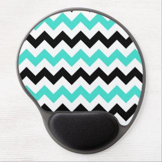 Turquoise White Black Zigzag Gel Mouse Pad